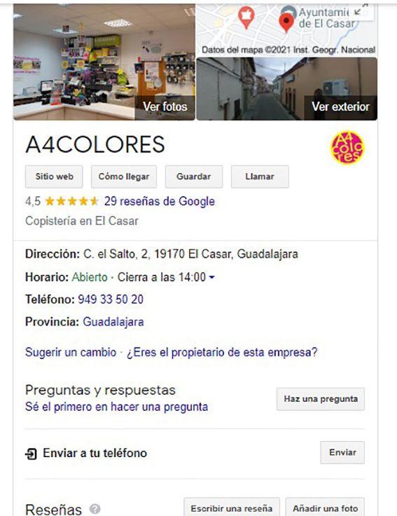 A4COLORES en Google