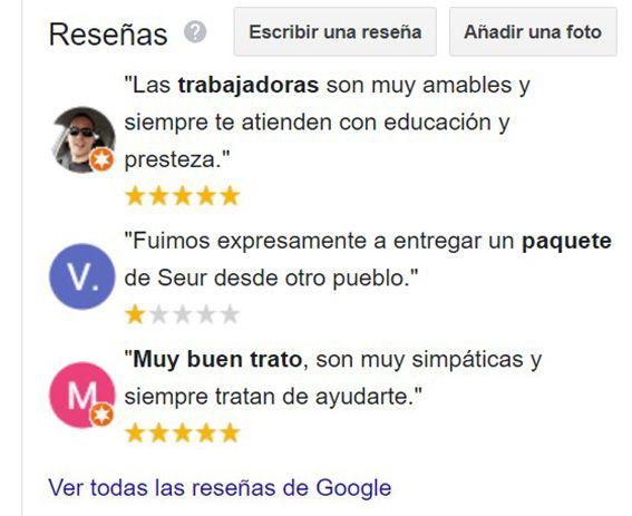Reseñas A4COLORES en Google